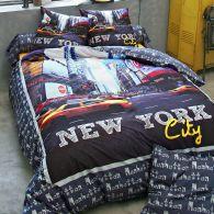 new york housse de couette parure de couette 220 x 240 pas cher parure de couette new york. Black Bedroom Furniture Sets. Home Design Ideas