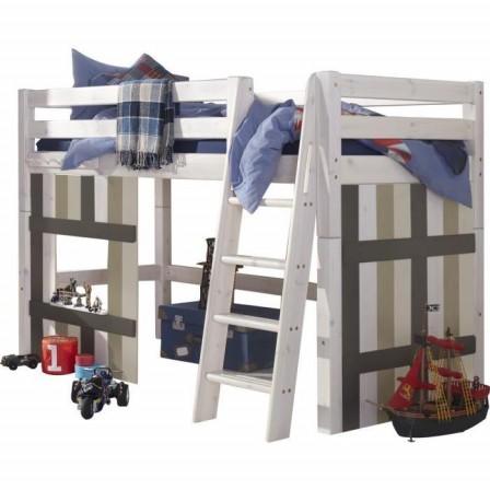 lit en bois rayures pour chambre de pirate ce lit surelev apportera une touche dco originale dans la chambre dun jeune pirate - Lit Pirate