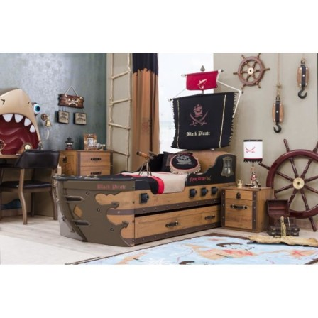 lit pirate lit pour chambre de pirate et housse de couette de pirate meuble et linge de lit. Black Bedroom Furniture Sets. Home Design Ideas