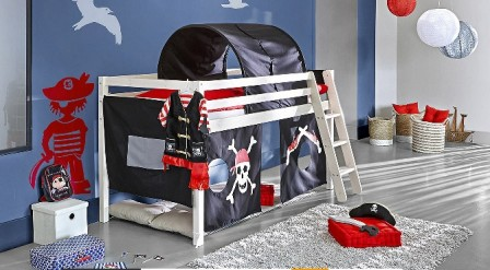 lit pirate lit pour chambre de pirate et housse de. Black Bedroom Furniture Sets. Home Design Ideas