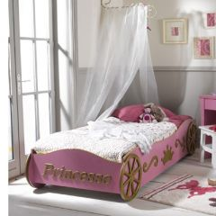 finest lit enfant princesse pas cher prix bas avec with lit enfant carrosse. Black Bedroom Furniture Sets. Home Design Ideas