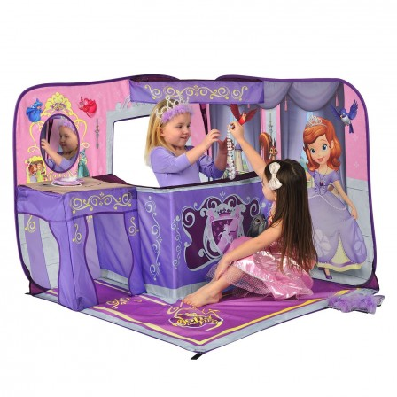 Ch teau tente de princesse installer dans une chambre de fille accessoires et decoration - Jeux de chambre a decorer ...