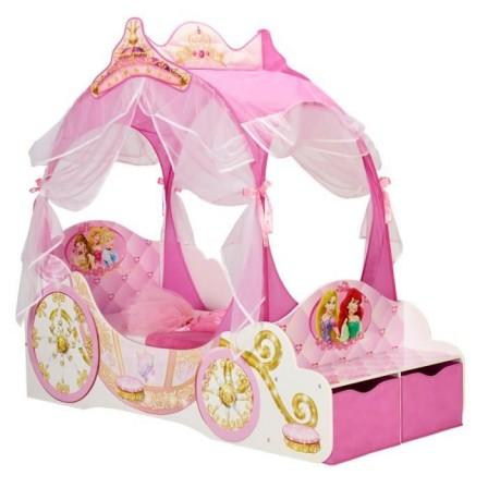 Decoration et mobilier chambre de fille baldaquin lit princesse d co enfa - Lit carrosse de princesse ...