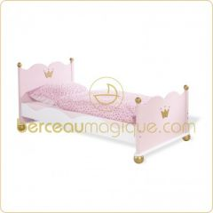 lit princesse avec courronne 90 x 190 1 place couchage 1 personne decor princesse