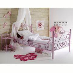 lit princesse lit en fer forgé avec voile pour chambre de princesse