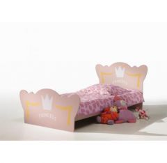 lit princesse rose fille avec couronne lit fille 90 x 190 1 place pour fillette princesse