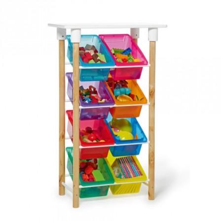 Rangement et gain de place dans la chambre d 39 un enfant etag re de rangement avec bac et espace - Rangement astucieux chambre ...