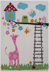 Tapis pour enfants muticolore rectangulaire 135x190cm animaux girafe chouette original couleurs pastels pour les petits.jpg