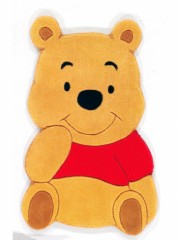 tapis enfant decoration Winnie l'ourson en forme de winnie tapis pas cher pour bébé et jeune enfant fan de winnie l'ourson disney.jpg