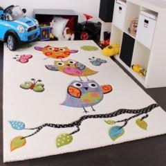 tapis enfant rectangulaire pas cher chouette sur branche tapis color pour protger le sol salle de - Tapis De Chambre Fille