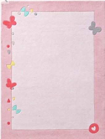 Fleurs et papillons : tapis de chambre d\'enfant ou pour bébé sur ...