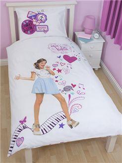 violetta housse de couette parure de couette linge de lit draps et accessoires deco plaid. Black Bedroom Furniture Sets. Home Design Ideas