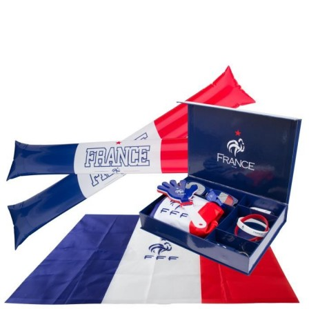 euro 2016 supporter foot fan club euro 2016 accessoires maquillage kit pour supporter fff. Black Bedroom Furniture Sets. Home Design Ideas