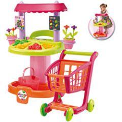 jeux et jouets pour les filles partir de 18 mois jeu de marchande et le chariot id e de. Black Bedroom Furniture Sets. Home Design Ideas