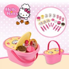 dinette hello kitty jeu jouet fille 2 ans, 3 ans, 4 ans, hello kitty avec panier hello kitty