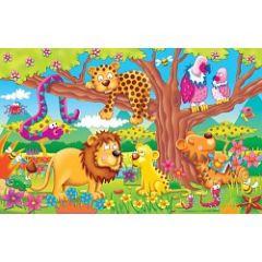 Puzzle de la jungle de 50 pièces pour enfant 5 - 6 ans : idee cadeau