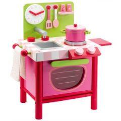 Cuisine en bois jouet pas cher cuisine enfant jouet - Dinette en bois pas cher ...
