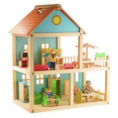 cadeau fille 3 ans, 4 ans maison de poupee en bois avec personnage à transporter.jpg