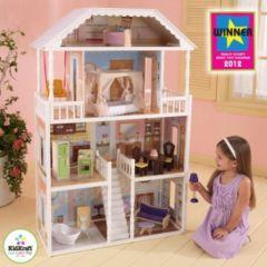 maison de pour jouer à la poupee 3 etages plusieurs pièces escaliers et meubles fournis pour fille 4 ans, 5 ans, 6 ans, 7 ans, 8 ans et plus.jpg