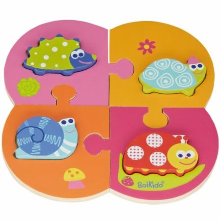 id e cadeau pour enfant partir de 18 mois puzzle encastrable pour composer des animaux. Black Bedroom Furniture Sets. Home Design Ideas