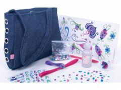 fabriquer et customiser un sac en jean avec paillettes strass cadeau sac deco cadeau fille anniversaire noel 8 ans, 9 ans, 10 ans, 12 ans
