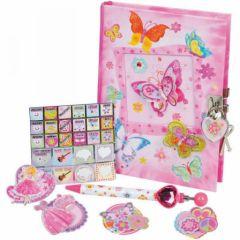 journal intime et sticker pour décorer paillette cadeau fille 6 ans, 7 ans, 8 ans, 9 ans, 10 ans, petit budget