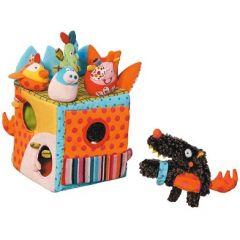 cube en tissu avec animaux encastrement jeu eveil enfant 6 mois 9 mois 12 mois cadeau naissance anniversaire noel