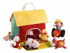 cadeau 2 ans jeu jouets en tissu lilliputiens la ferme animaux en tissus tout doux cadeau fille ou garçon 2 ans, 3 ans, 4 ans, jeu d'eveil et decouverte 2 ans.jpg
