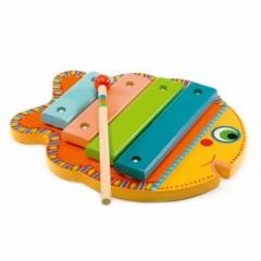 cadeau enfant 2 ans, 3 ans instrument de muscial eveil musical petit xylophone poisson pas cher.jpg