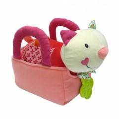 cadeau enfant 2 ans fille ou garçon joli chat dans panier à promener animal chat cadeau pour bébé pas cher original.jpg