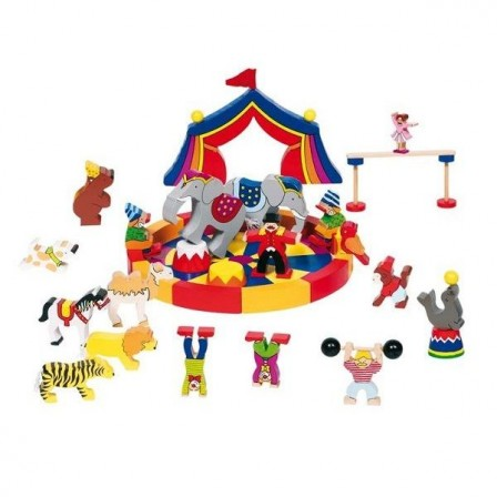 jouet en bois enfant 2 ans, 3 ans, un cirque avec animaux et personnages en bois cadeau original pas cher jeu en bois educatif enfant.jpg