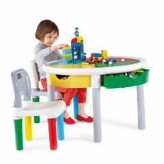 Id al pour jouer avec des lego ou des duplo la table ronde de construction pour enfants de 3 - Table de jeux pour enfant ...