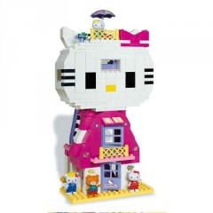 cadeau hello kitty 3 ans, 4 ans, 5 ans, 6 ans, 7 ans, 8 ans, Jeu de brique et construction hello kitty à construire duplex hello kitty.jpg