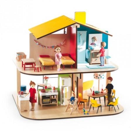 maison de poupee jeux et jouets pour enfant cadeau pour. Black Bedroom Furniture Sets. Home Design Ideas
