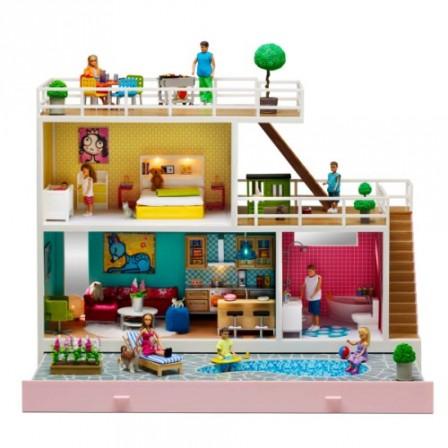 Maison de poupee jeux et jouets pour enfant cadeau pour for Maison de famille meubles
