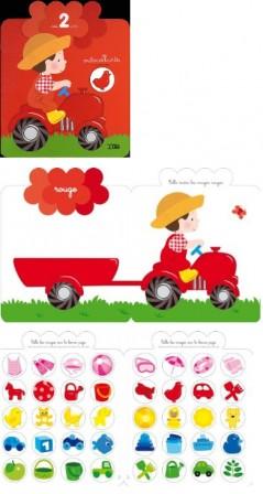 activit s creatives pour enfants de 2 ans 3 ans maternelle jeu de collage pour fille ou. Black Bedroom Furniture Sets. Home Design Ideas