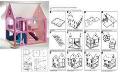Loisirs creatifs une maison de poup e en bois monter et d corer univers cr atif - Maison de poupee en bois a construire ...