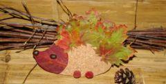 bricolage d 39 automne pour enfant maternelle avec des pommes de pin fabriquer un h risson. Black Bedroom Furniture Sets. Home Design Ideas