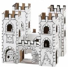 d corer une maison de poup e en carton un ch teau une. Black Bedroom Furniture Sets. Home Design Ideas
