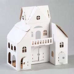 D corer une maison de poup e en carton un ch teau une - Decorer sa maison pour noel pas cher ...