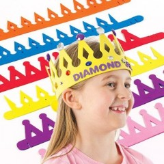 activités manuelles couronne des rois à décorer en mousse de couleur pour enfant à décorer avec gommettes, autocollants pas cher.jpg