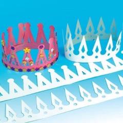 couronnes en papier pas cher pour loisirs creatifs activités manuelles enfant maternelle pour galette des rois à décorer blanche.jpg