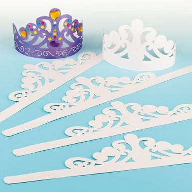 courronne pour fille en papier blanc épais à décorer couronne princesse avec diadème à décorer activités manuelles anniversaire princesse ou galette des rois.jpg