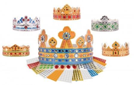 fabriquer une couronne en papier cartonn pour les enfants couronne pour f ter l 39 piphanie. Black Bedroom Furniture Sets. Home Design Ideas