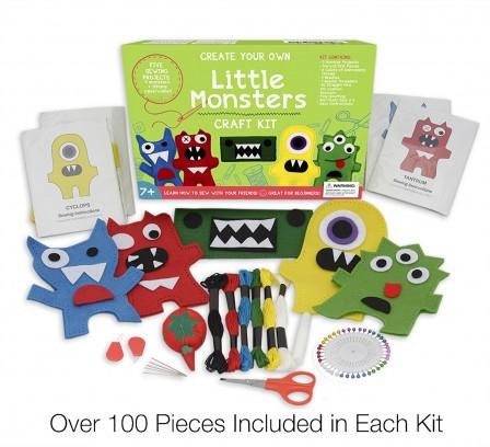 Kits pour enfant apprendre coudre initiation la for Craft sets for 7 year olds