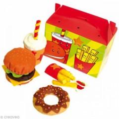 aliment en feutrine coudre un donuts un hamburger des frites et une boisson kit couture feutrine pour enfant ou ado pour la dinette.jpg