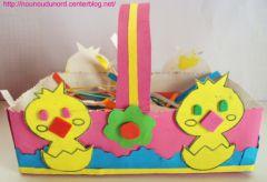 Fabriquer Un Panier Ou Boîte Pour Oeufs De Pâques Bricolage Panier