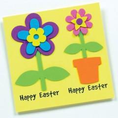 fleurs en mousse à coller pour fabriquer cadeau fete des meres ou cartes loisirs creatifs printemps idées deco.jpg