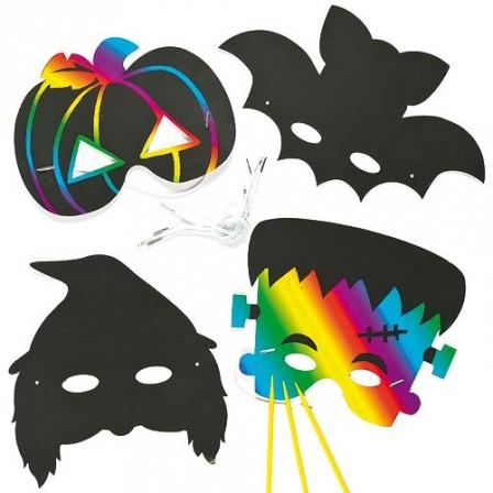Halloween id e bricolage activit s manuelles faciles avec les enfants mat riel pas cher et - Masque halloween a fabriquer ...