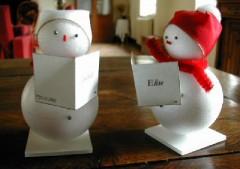 Fabriquer des d corations de noel les marque places - Decoration de noel bonhomme de neige ...